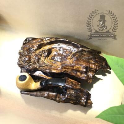 đế tẩu gỗ kèm gạt tàn 1