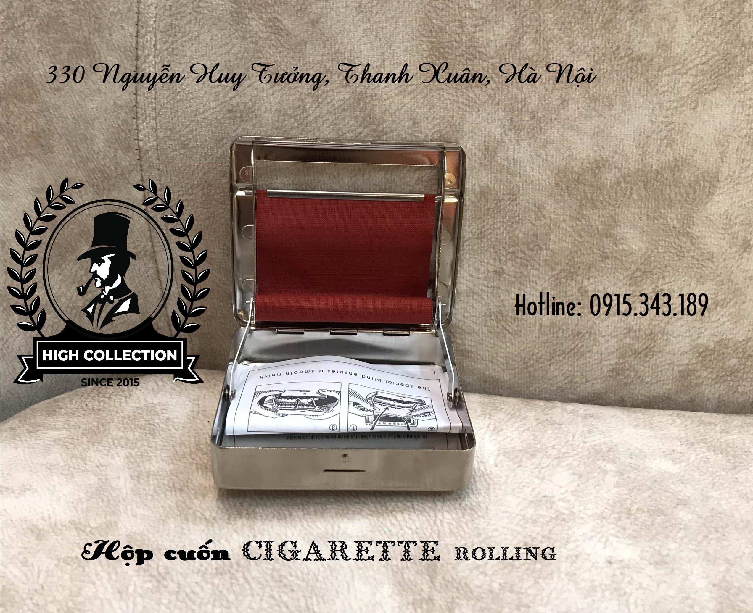 hộp cuốn thuốc lá bạt đỏ