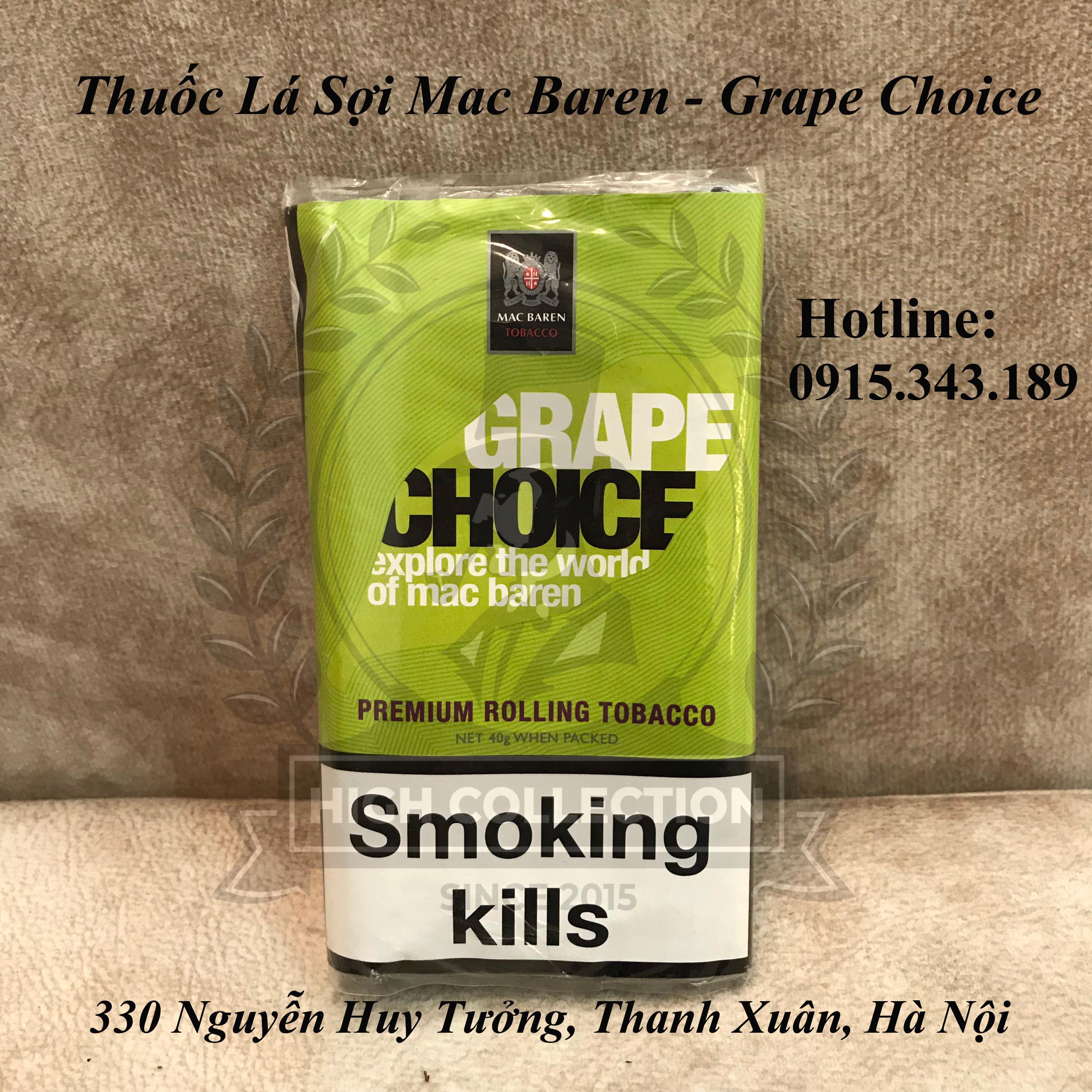 Thuốc Lá Sợi Mac Baren - Grape Choice