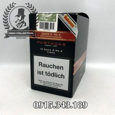 Cigar Partagas 15 Serie D No.4 Tubos Nội Địa Đức